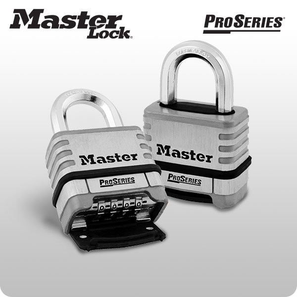 ProSeries Resettable Stainlss Steel Carded Padlock (Master Lock)