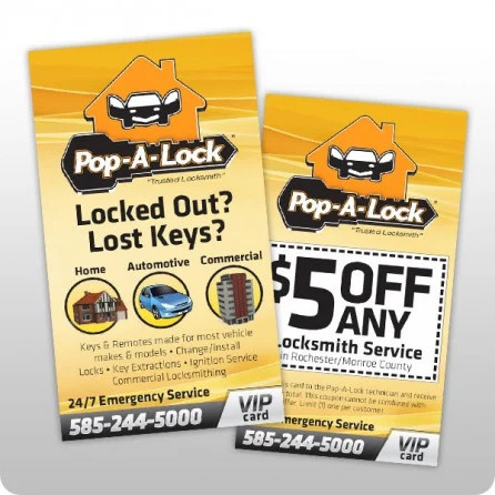 Pop A Lock Business Cards COUPON QTY 5000 [BUSCARDS